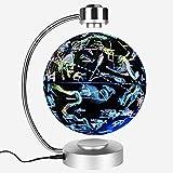 MXK-Lampe Leuchtglobus Magnetische Schwebender Globus Weltkugel LED Beleuchtung Levitation Rotation Büro Arbeitszimmer Weihnachtsgeschenke 8 Zoll