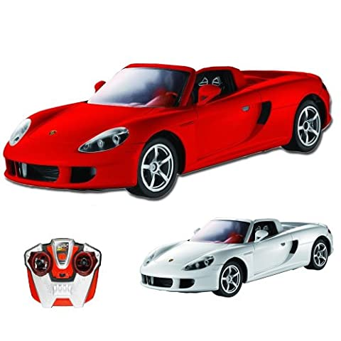Porsche Carrera GT - RC ferngesteuertes Lizenz-Fahrzeug im Original-Design, Modell-Maßstab 1:16, Ready-to-Drive, Auto inkl. Fernsteuerung und Batterien, Neu