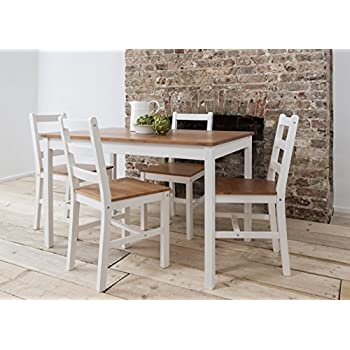 Sensational Noa And Nani Annika Dining Table And 4 Chairs Natural Pine And White Bralicious Painted Fabric Chair Ideas Braliciousco