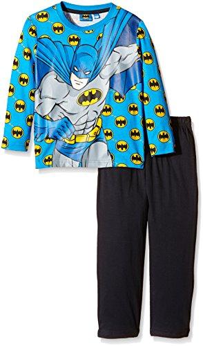 DC Comics Jungen Zweiteiliger Schlafanzug Gr. 122, Blau - Königsblau