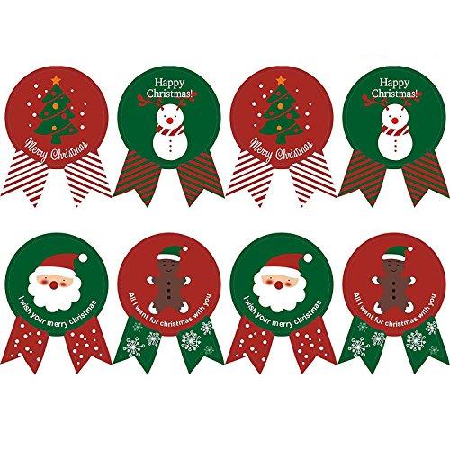 Kingsley 160 piezas Empacado hornear corbata Navidad