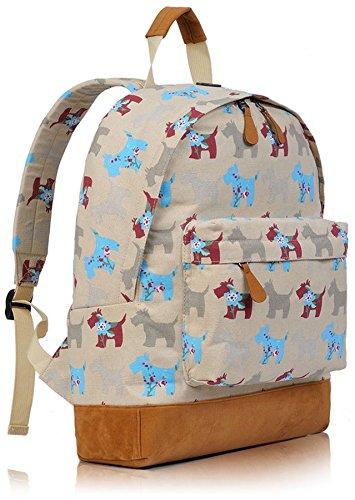 Kukubird Multi-Design 1 einzelne Tasche Rucksack - ELEPHANT MINT GREEN SCOT BEIGE