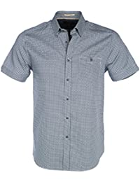 Ted Baker Men's Navy Munkee Short Sleeved Shirt