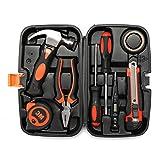 Werkzeugkasten von Baban Werkzeugkoffer 9-teiliger Premium Universal- und Haushalts-Werkzeugkoffer Haushaltskoffer, Schlagwerkzeug, Schraubendreher, Zangen, Bandmass usw.