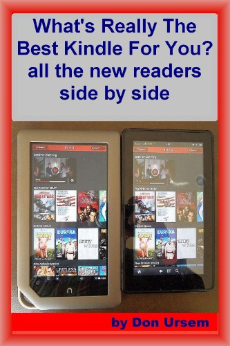 Whats Really the Best Kindle for You? all the readers side by ...