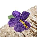 BELLE VOUS Hawaii Deko Tischrock 9ft - Luau Party Deko (L274 x H77cm) mit bunten Hibiskus Blumen - Luau Tischdeko, Tischrock aus Bast für Karibik Deko, hawaiianische Party, Geburtstag und Grillparty - 5