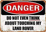 Forry Not Touching My Land Rover Métal Mur Affiche Vintage Plaque Étain Signe Rétro Décorer Artisanat pour Café Bar Garage Salon Chambre