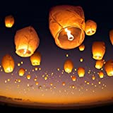 ProjectsforSchool pack of 5 Gandola, sky lantern, lighted air balloon for night, Chinese night lamp for kite flying