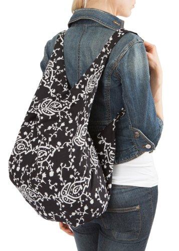 Sac bandoulière ou sac à dos en coton bio Lotus