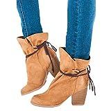 Stiefel Damen, ABsoar Boots Quaste Schuhe Volltonfarbe Peeling High Heel Stiefeletten Rutschfeste Spitz Stiefel Frauen Wildleder Schuhe Stiefel