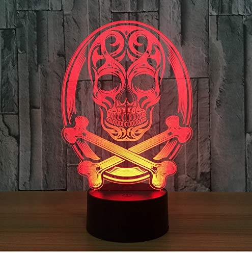 3D Nachtlicht Schädel 3D Led Lampe Atmosphäre Nachtlichter Led Lampe Touch Sensor Halloween Theme Party Wohnzimmer Schlafzimmer Tisch Schreibtisch Dekor