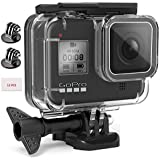 Adofys Waterproof Case Mount Cover Underwater Diving Protective Shell Housing with 12 Antifog inserts tripod adapter Quick Re
