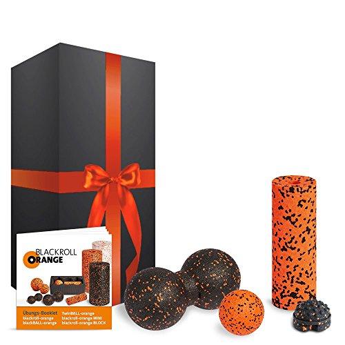 blackroll-orange Zubehör-Set Geschenkedition mit MINI Faszienrolle, Massageball, TwinBall & Twister