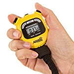 Marathon Adanac 3000 Digital Sports Stopwatch Timer With Extra Large Display And Buttons Water Resistant Yellow