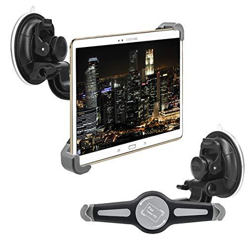 """kwmobile 10"""" Tablet PC KFZ Scheiben Halterung - Tablet PKW Auto Halter mit Saugnapf - 360° Autohalter in Schwarz"""