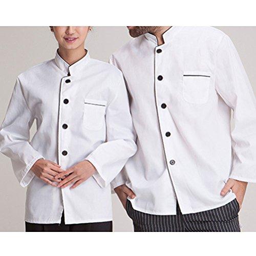 Zhuhaitf Haute qualité Unisex Advanced Chef Uniform Long Sleeve Antifouling Work Clothes white