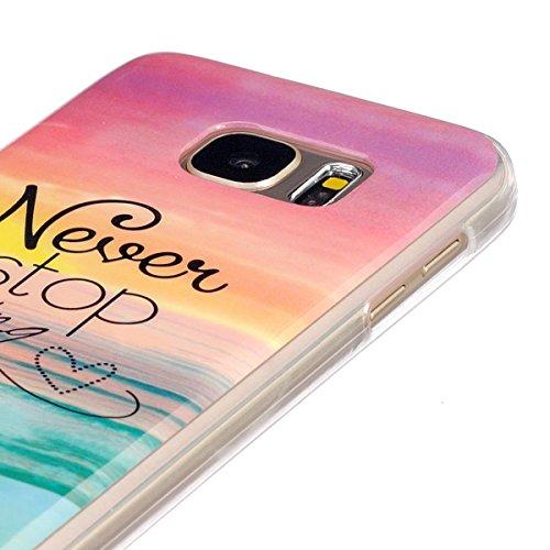 Ukayfe Nuovo design TPU Gel Custodia per iPhone 6/6S in Silicone Protettivo Skin Protettiva Shell Case Cover Con Stilo Penna - I dont drink Never stop dreaming 2