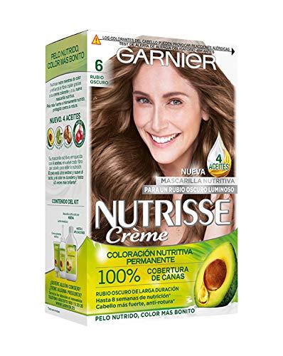 Garnier Nutrisse Creme coloración permanente con mascarilla nutritiva de cuatro aceites - Rubio Oscuro...