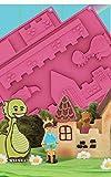 Silikonform Burg zum Backen und Selberbauen, mit Dino, Prinzessin