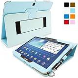 Galaxy Tab 3 10.1 Zoll Hülle (Hellblau), SnuggTM - Smart Case mit lebenslanger Garantie