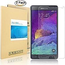 Galaxy Note 4 de Pantalla, PULESEN®[2-Pack] [Ultra Resistente, 2.5D 9H dureza] Samsung Galaxy Note 4 Vidrio Templado Protector de Pantalla Protector de pantalla para Galaxy Note 4
