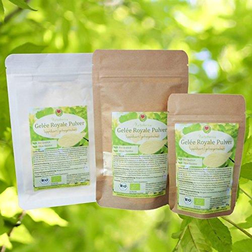 Bio Gelée Royale Pulver   100% lyophilisiertes Gelee in bewährter Naturherz-Qualität vom Bio Imker (50g) (Royal Pulver Gelee)