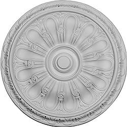 Ekena Millwork CM16KI 15 3/4-Inch OD x 5/8-Inch Kirke Ceiling Medallion