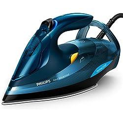 Philips Azur Advanced GC4937/20–Plancha de vapor (3000W, con OptimalTemp, Golpe de vapor de 240g, sistema Calc-Clean), azul