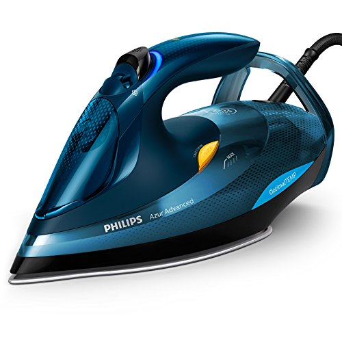Philips Azur Advanced GC4937/20 Dampfbügeleisen (3000 W, mit OptimalTEMP, 240g Dampfstoß, Calc-Clean-System) blau