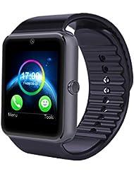 SmartWatch Bluetooth Android Uhr -Yarrashop intelligente Smart Uhr 1.54 Zoll Display Sport Watch mit SIM Kartenslot / Schrittzähler / Schlafanalyse / SMS Facebook Vibration für IOS Android Smartphone