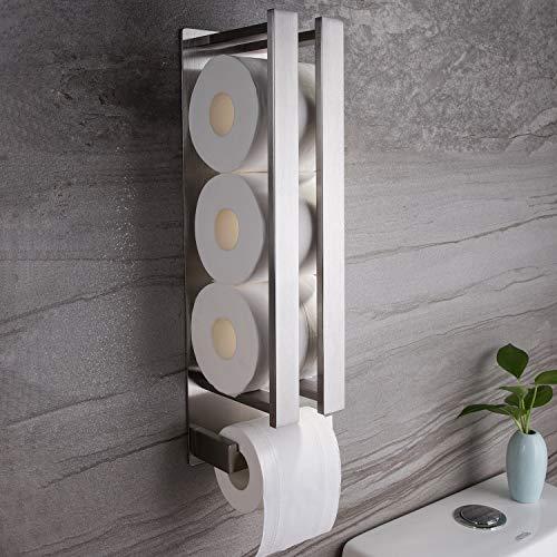 Hängende Wc-papierrollenhalter (Ruicer Toilettenpapierhalter ohne Bohren Klorollenhalter Selbstklebend Klopapierhalter Edelstahl WC Rollenhalter Ersatzrollenhalter)