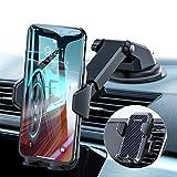 VANMASS Handyhalterung Auto Handyhalter fürs Auto 3 in 1 Kfz Handyhalterung Lüftung & Saugnapf Halter 100% Silikon Schutz Smartphone Halterung Auto für iPhone Samsung Huawei Mate LG (Upgrade Version) -