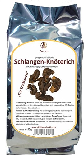 Schlangen-Knöterich - (Bistorta officinalis Delarb, Persicaria bistorta, Polygonum bistorta, Bistorta major, Wiesen-Knöterich) - 50g