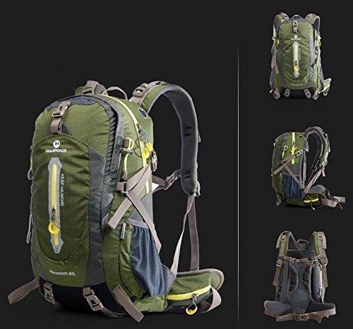 Outdoor uomini e donne Borse da viaggio Borse escursioni tracolla 40L50L ( Colore : Nero , dimensioni : 40L ) Army Green