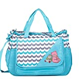 PACKNBUY Baby Diaper Nappy Shoulder Bag Changing MAT Blue