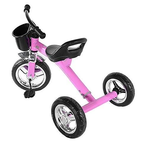 Panana coole Dreirad - stabiles Kinderfahrzeug für Jungen und Mädchen ab ca. 1 bis 5 Jahren geeignet - Pink