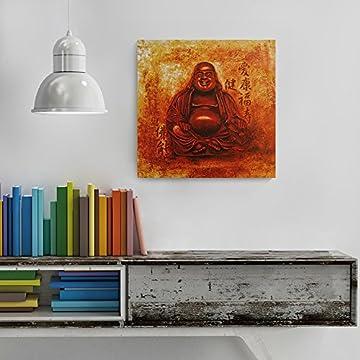 Feeby Frames, Cuadro de pared, Cuadro decorativo, Cuadro impreso, Cuadro Deco Panel, 60x60cm (BUDA, ROJO, AMARILLO, ANARANJADA) 7