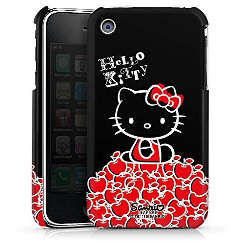 DeinDesign Apple iPhone 3Gs Hülle Premium Case Cover Hello Kitty Merchandise Fanartikel Black