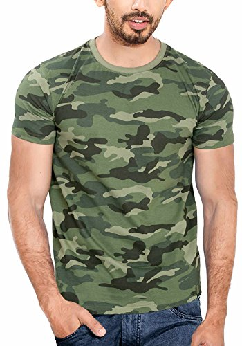 WYO Men's Cotton Camouflage Army Print T-Shirt