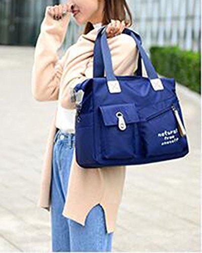 Damen Tasche Shopper Schultertasche Schultertaschen Messenger Bag Blau Blau