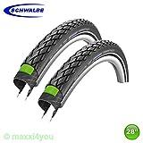 01022842S2 2 x Schwalbe Marathon Green Guard Reifen Decke mit Reflex 37-622