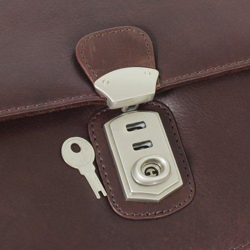 Branco Business Herren Handgelenktasche Herrentasche Tasche schwarz | braun | natur Leder - sehr hochwertig Braun