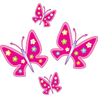 Dark Pink Butterflies Car Sticker Pack