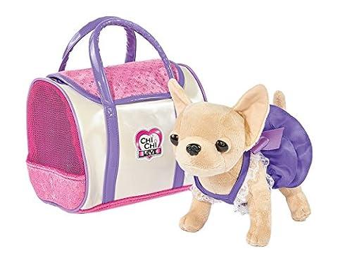 Simba 105897407 - Chi Chi Love Plüschhund 20cm mit glänzender Tasche (Simba Chi Chi)