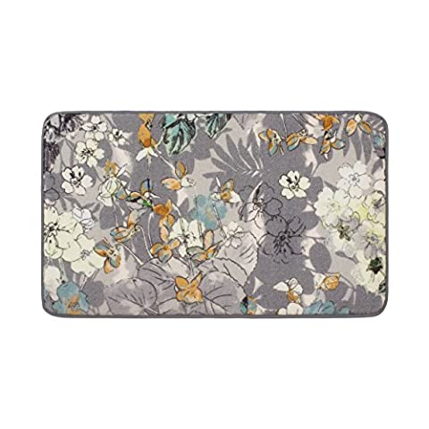 Laura Ashley Ethereal High Definition Printed Memory Foam 20 in. x 32 in. Accent Rug in Jersey