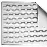 BasicForm XXL Silikon-Trockenmatte für Küchen-Arbeitsplatte 56.5x43.2x0.35cm (Grau)