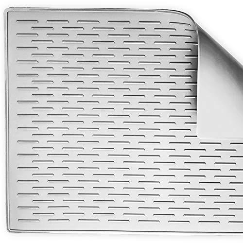 BasicForm Alfombrilla Escurreplatos Silicona para Encimera Cocina XXL  56.5x43.2x0.35cm (Gris a79477fd13f4