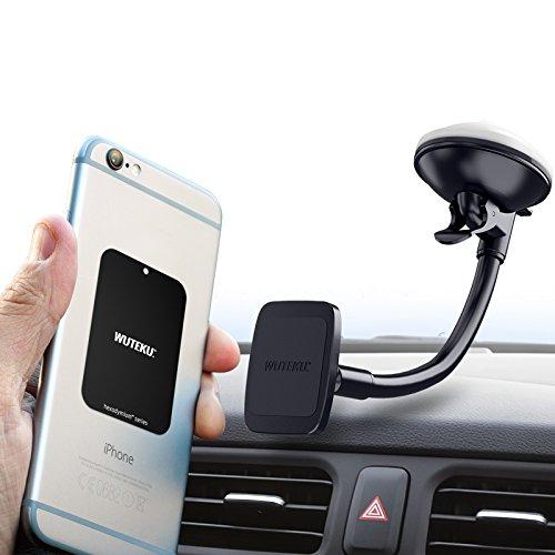 Handy Telefonhalter für Auto von Wuteku | Magnetic Kit funktioniert auf allen Fahrzeugen, Handys und Tablets | Windschutzscheibe und Armaturenbretthalterung | iPhone XR, XS, X, 8, 7 & Galaxy S9, S8