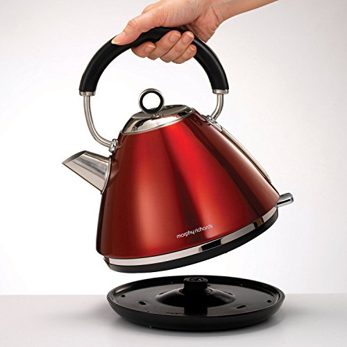 Morphy Richards 102004EE Accents Wasserkocher Pryramide rot - 9
