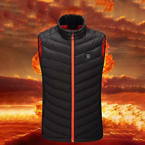 514T8KiIftL. SS500  - Bloomma Heated Vest, USB Charging Electric Winter Vest Stand Collar Heating Cotton Thermal Vest for